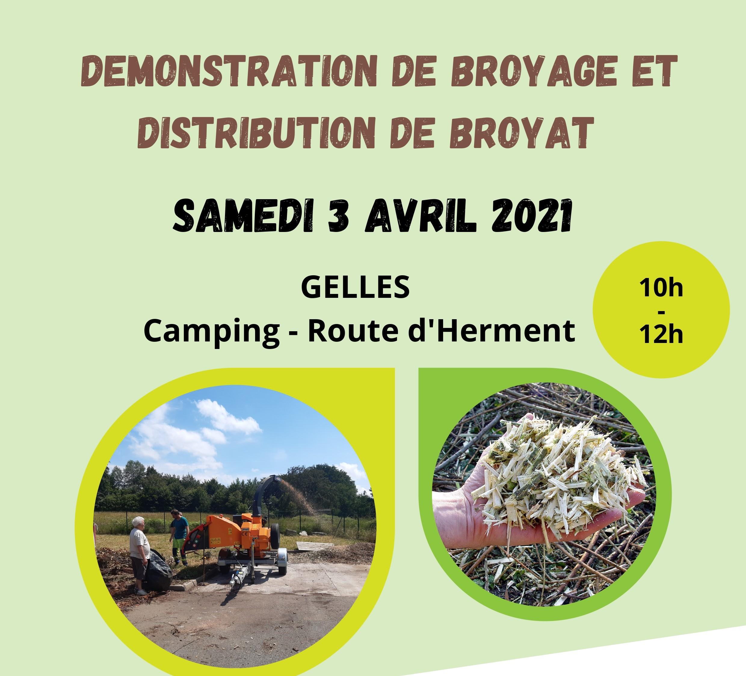Distribution de broyat