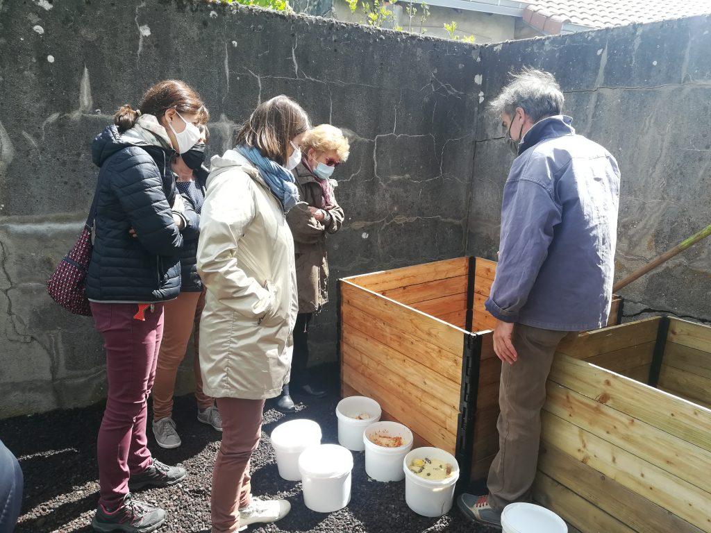 Installation composteur école Pontgibaud