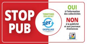 Demandez votre autocollant Stop Pub auprès du SICTOM Pontaumur Pontgibaud